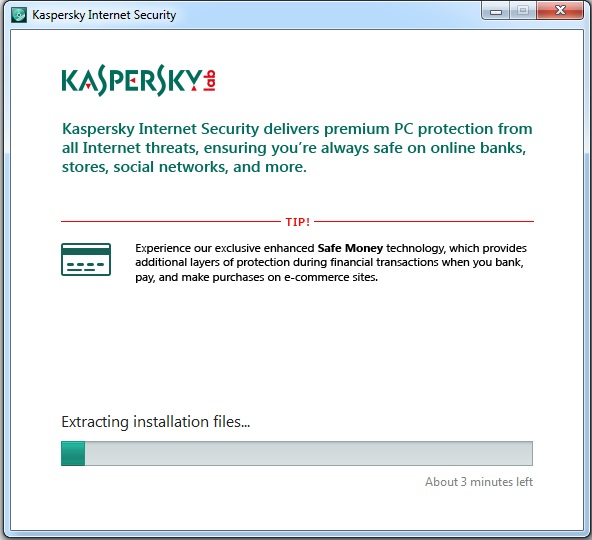 Now if you want to activate trial version of Kaspersky Internet Security 20