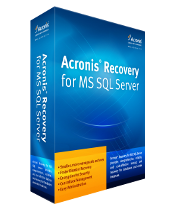 Acronis Recovery MS SQL server