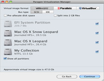 Paragon Virtualization Manager for Mac® OS X